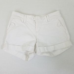 Banana Republic Womens White Short Shorts